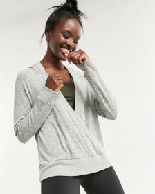 Hooded Wrap Sweatshirt Hyba