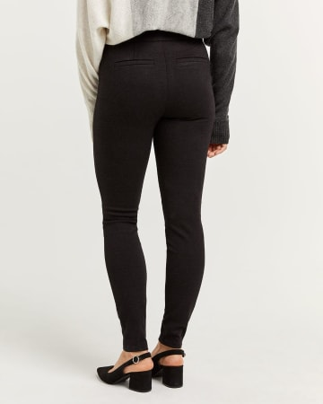 Black Jacquard Leggings - Tall