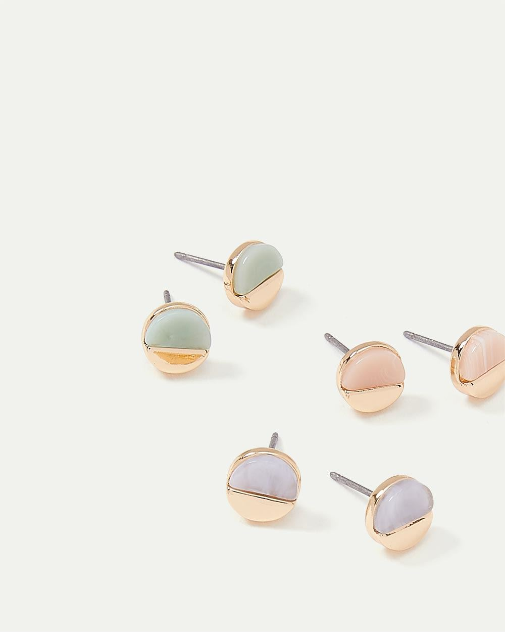3-Pack Stud Earrings