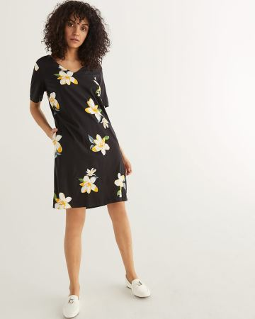 Floral Print Dress with Pockets
