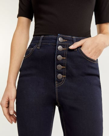 5-Button High Rise Skinny Jeans - Petite