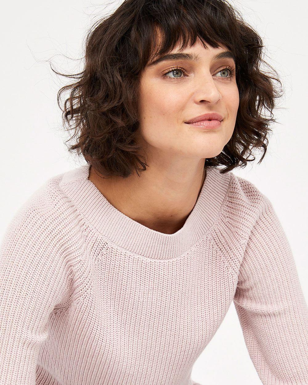 ¾ Sleeve Cotton Sweater