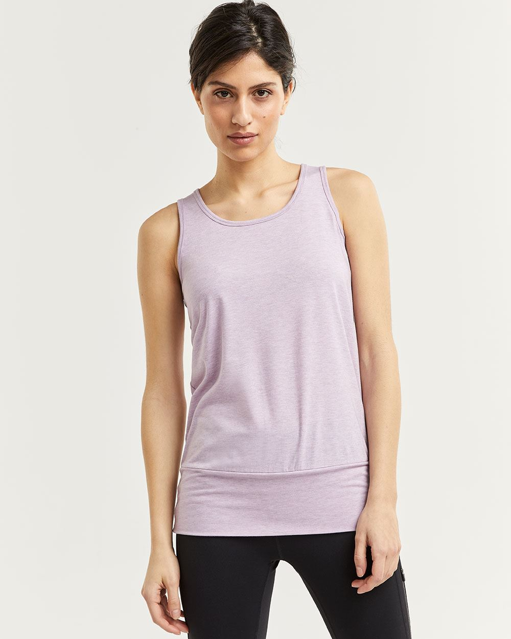 Sleeveless Top with Wide Hemline Band Hyba