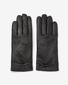 Bow Leather Gloves