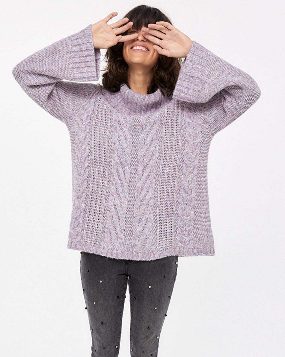 Pagode Sleeve Turtleneck Sweater