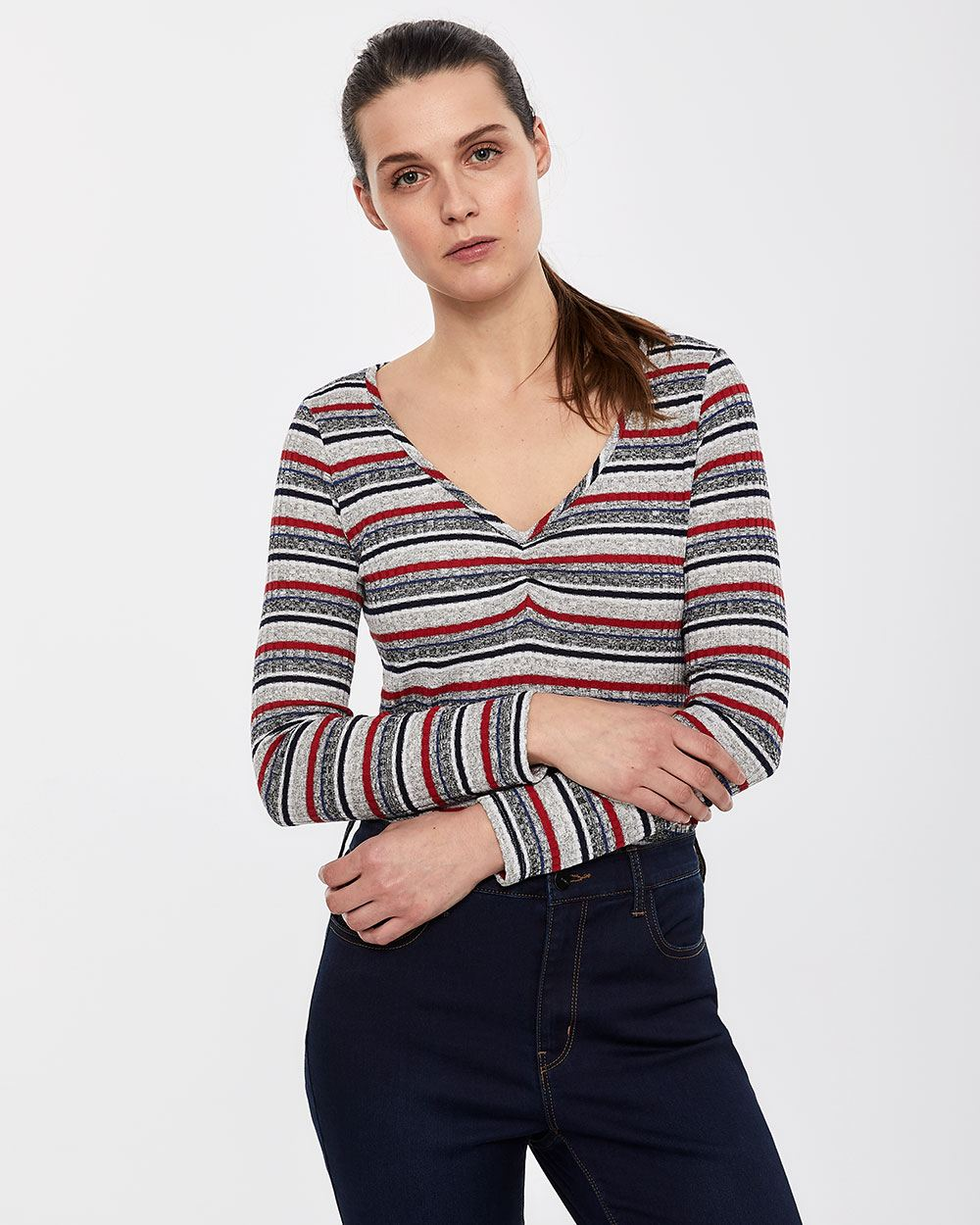 Long Sleeve Stripe Tee