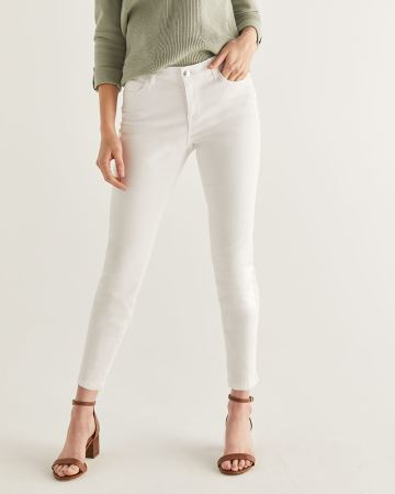 White Skinny Ankle Jeans - Tall