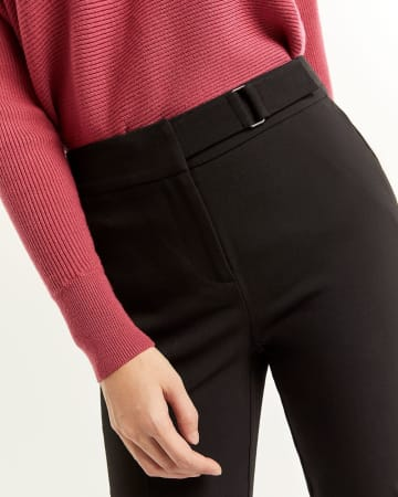 Slim Pants with Metal Buckle - Tall