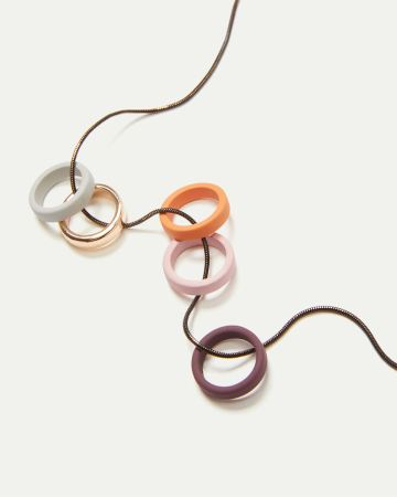 Silicone Rings Long Necklace
