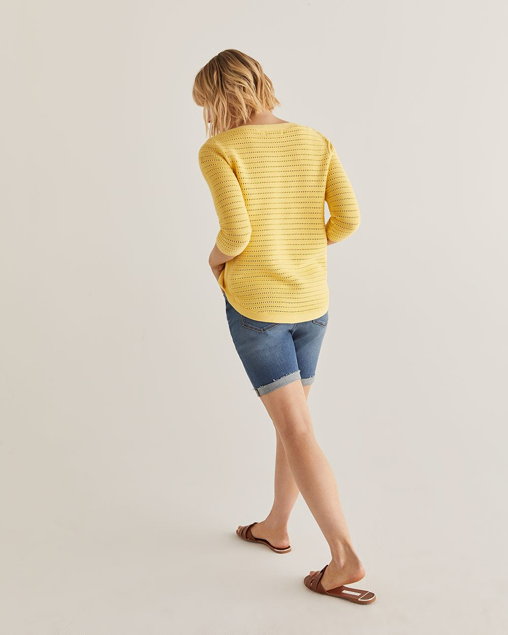 Open Stitch Cotton Sweater