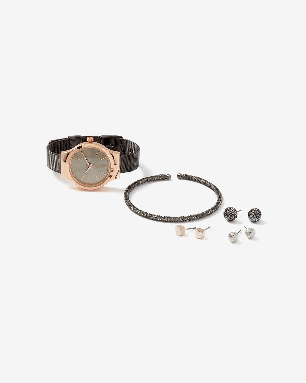 Watch, Bracelet and Earrings Gift Set