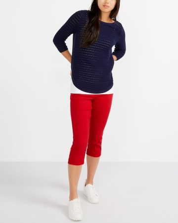 The Petite Solid Iconic Capri Pants