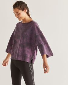 Tie-Dye Sweatshirt with Bell Sleeves