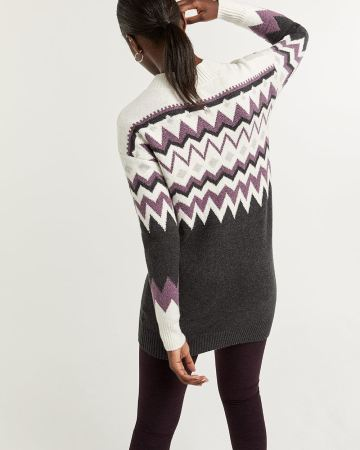 Hyba Pattern Tunic Sweater