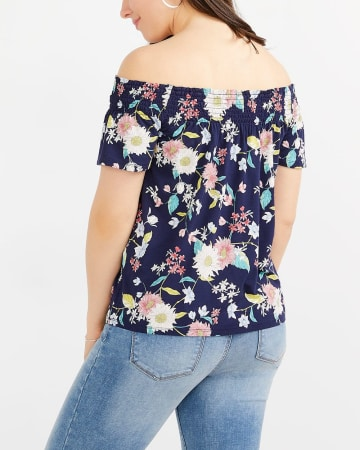 Off-The-Shoulder Printed Top