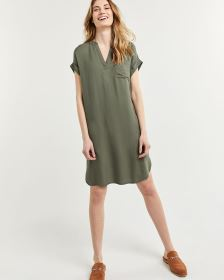 Shift Split Neck Dress