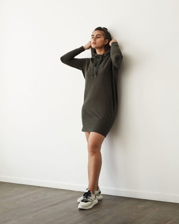 Hyba Hooded French Terry Dress