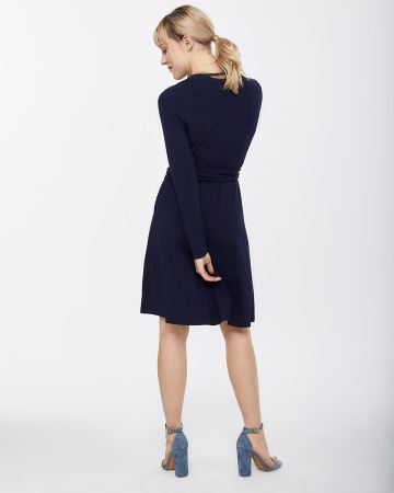 Long Sleeve Wrap Dress