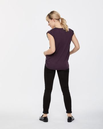 Drawstring V-neck Top - Petite