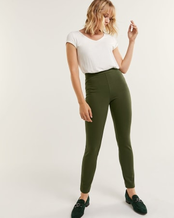 High Rise Ponte de Roma Leggings