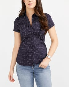 R Essentials Printed Crisp Shirt