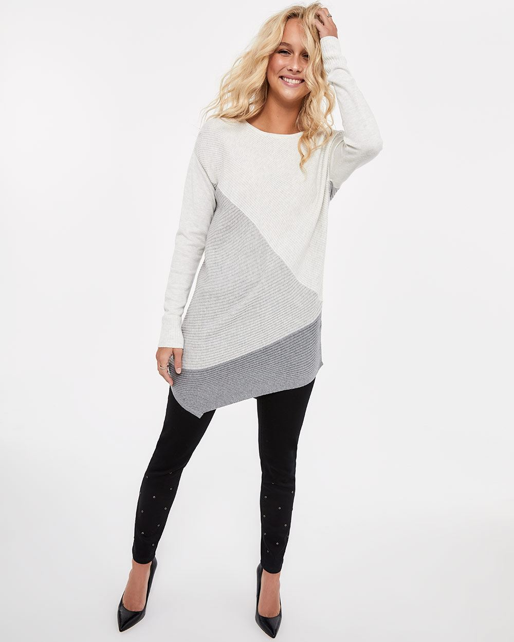 Asymmetrical Rib Sweater