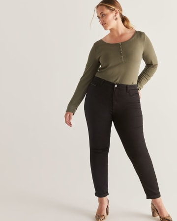 The Signature Soft High Waist Skinny Black Jeans - Tall