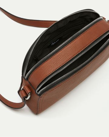 2 Compartments Cross Body Bag
