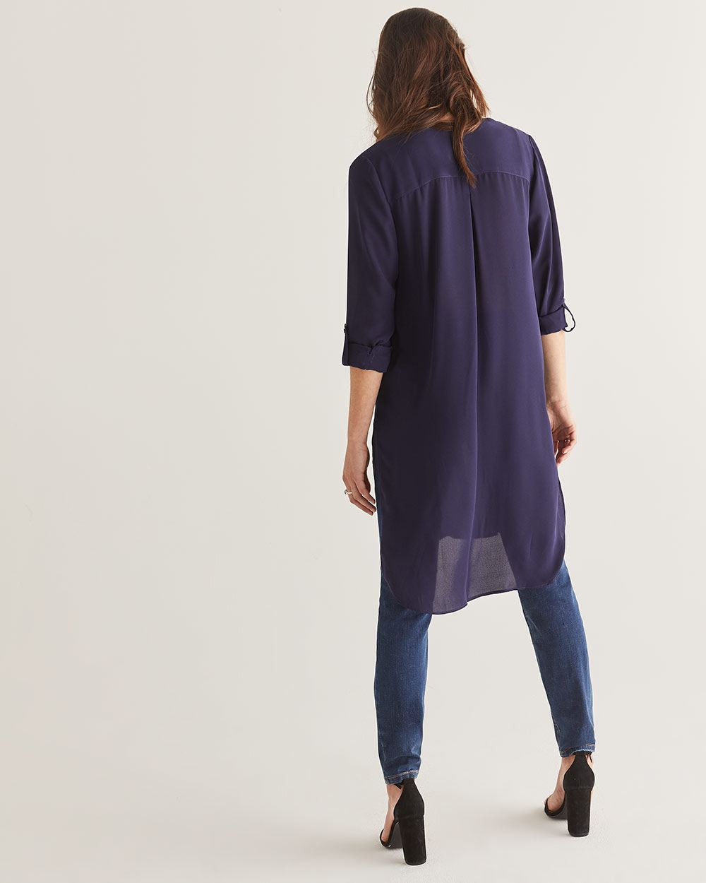 Buttoned-Down Long Tunic