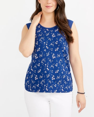 Cap Sleeve Printed Top