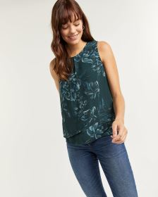 Asymmetrical Sleeveless Blouse