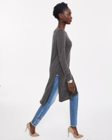 Long Sleeve Solid Tunic
