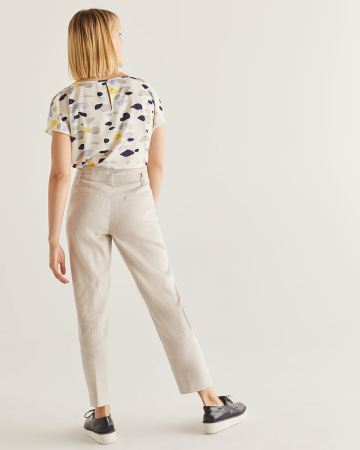 Willow & Thread Linen-Blend Ankle Pants