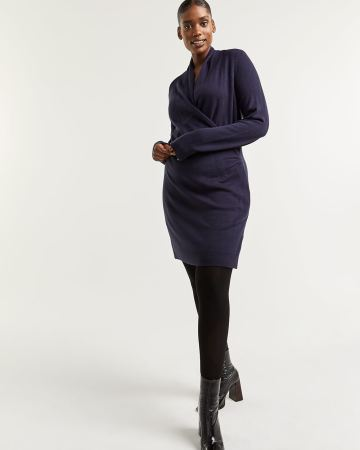 Bodycon Wrap Sweater Dress