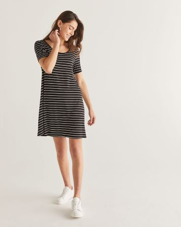 Reversible Stripe Swing Dress