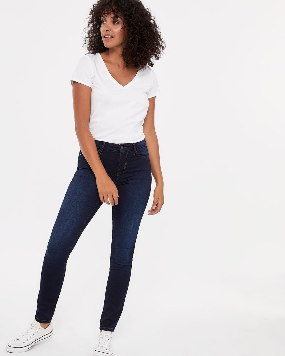 The Signature Soft Dark Wash Skinny Jeans
