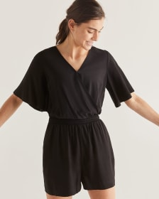 Black Wrap Romper