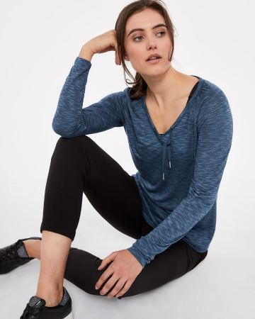 Hyba Long Sleeve Heather Top