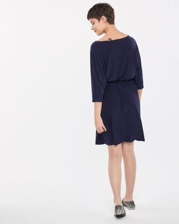 Dolman Sleeve Side Tie Dress