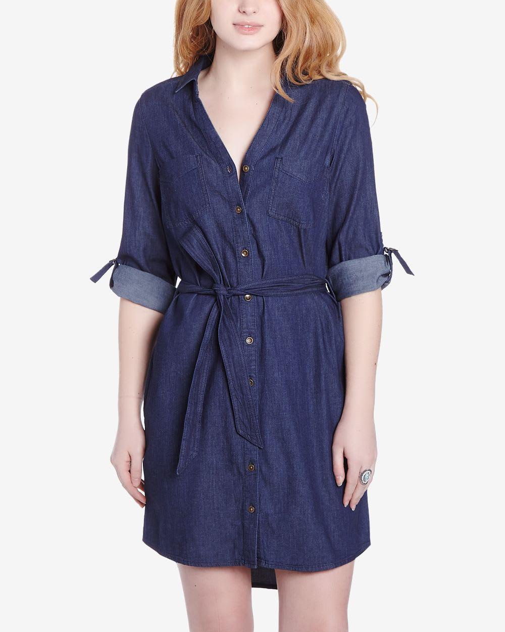 5527a929108 Long Sleeve Denim Shirt Dress
