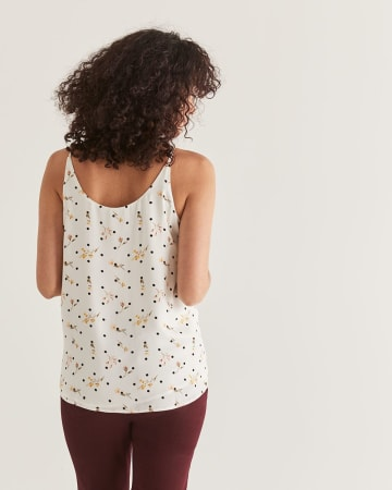 Printed Buttoned-Down Cami