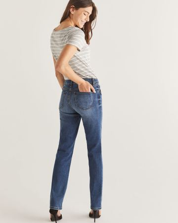 The Petite Insider Medium Wash Straight Leg Jeans
