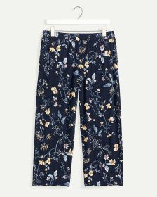 Printed Cropped Pyjama Pants with Pockets
