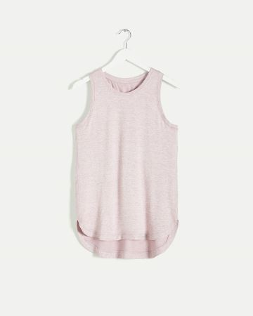 Crew Neck Tank with Back Shirring Hyba