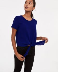 Short Sleeve Knotted Top