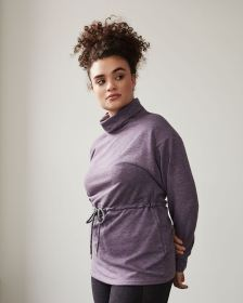 Hyba Funnel Neck Sweater with Drawstring