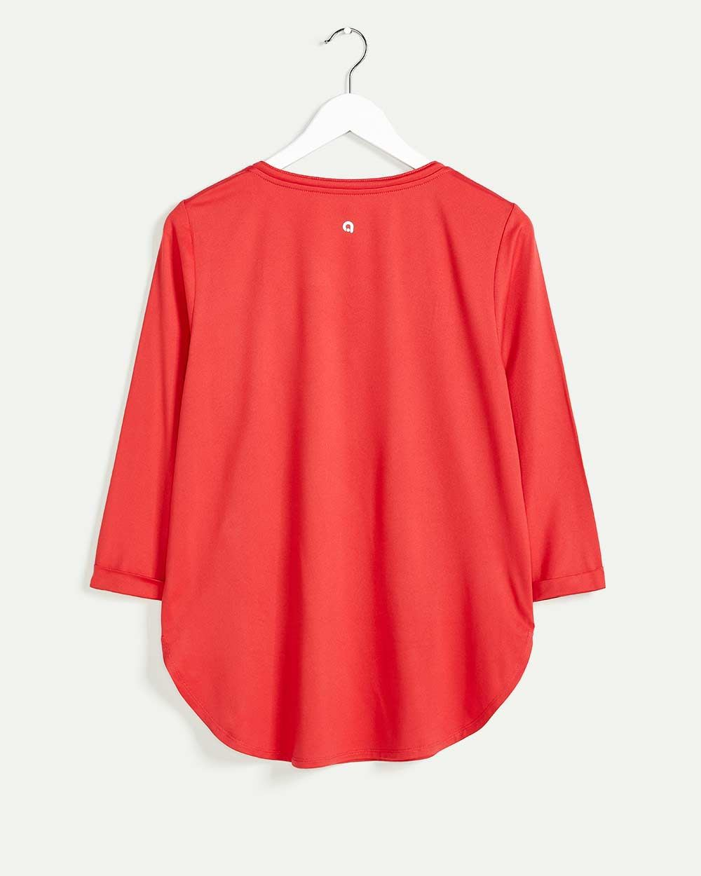 3/4 Sleeve Split Neck Top Ultra Soft Hyba