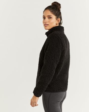 Hyba Funnel Neck Sherpa Jacket