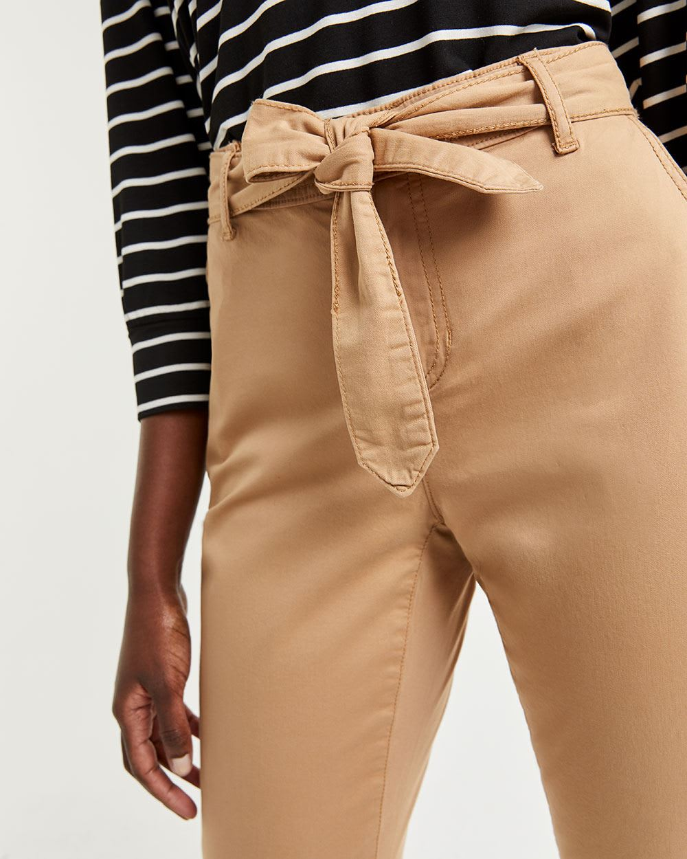 Slim Chino Pants with Sash
