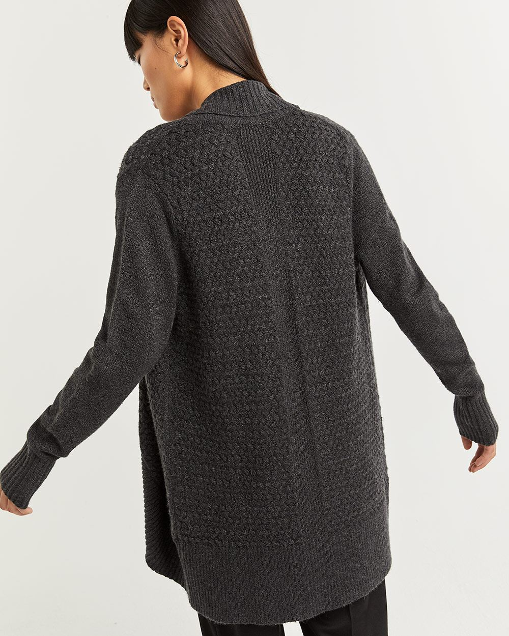 Cocoon Cardigan with Basket Stitches